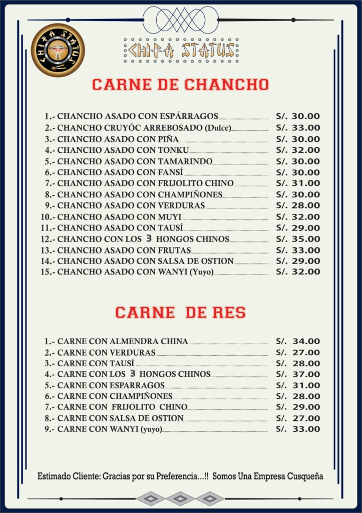 Chifa Status Carta
